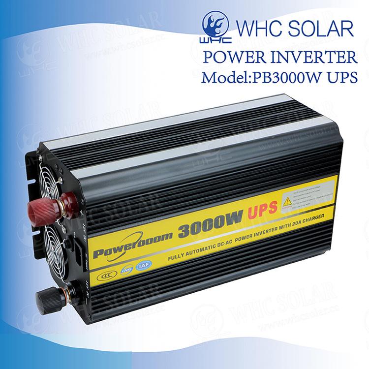 Power Inverter 3000W//5000W 12//24V to 220V Fixed Sine Wave USB Camp Home Solar