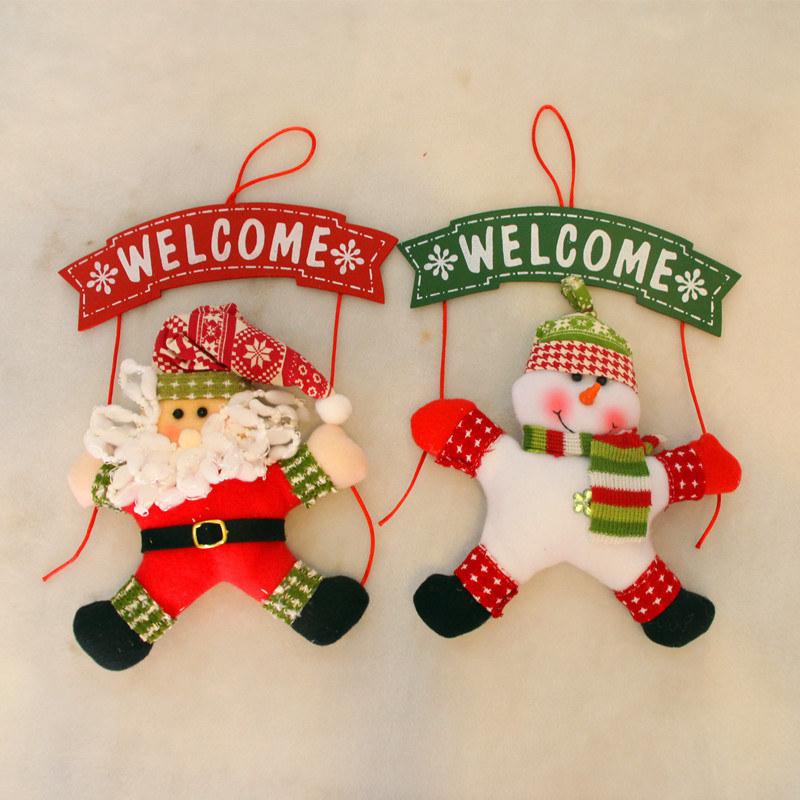 [Hot Item] Christmas Decorations Christmas Door Hang Welcome Wreath