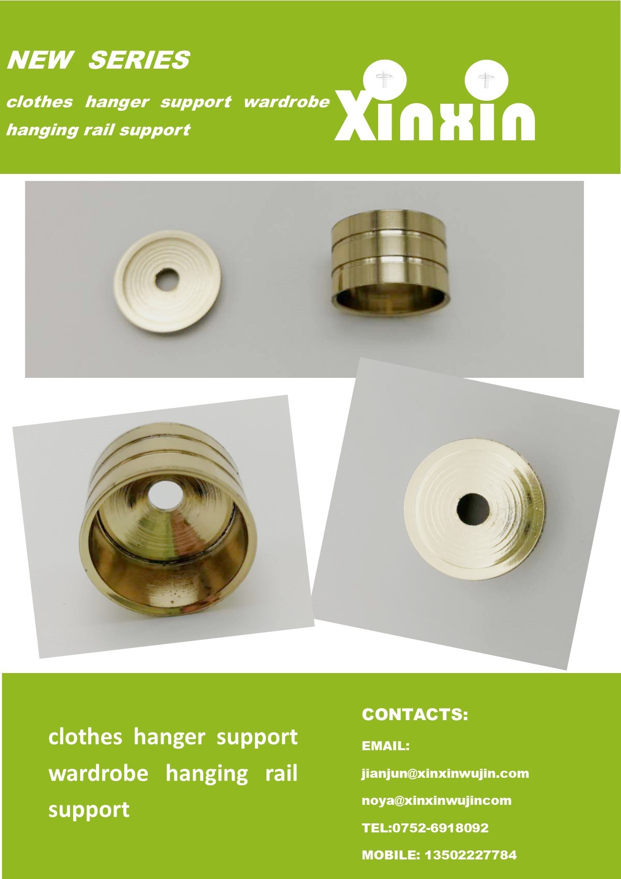 Prime Hot Item 22Mm Wardrobe Flange Tube Support Rail Support Hardware Accessories Polish Brass Home Interior And Landscaping Eliaenasavecom