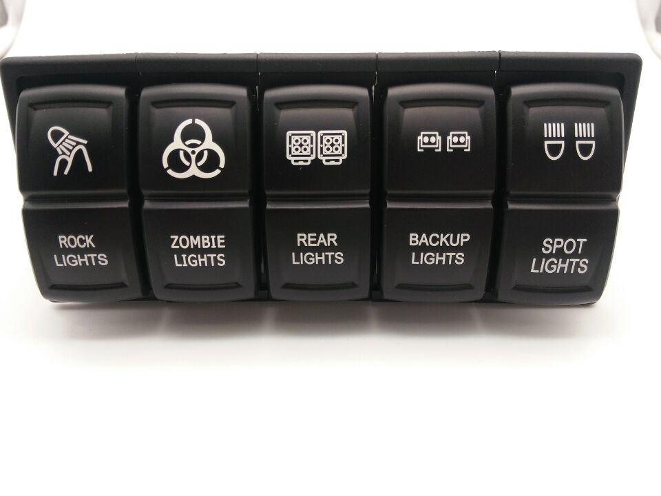 Rocker Switch Red 12V 24V Black Rocker Toggle Switch On-Off Led Light for Cars Yachts