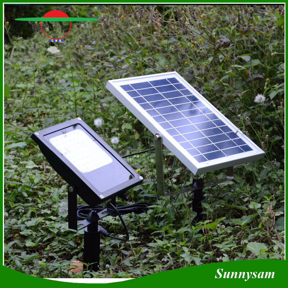 56 LEDs IP65 Waterproof Solar Floodlight Remote Control Color Changing Landscape Yard Garden Decorative Spotlight pictures & photos