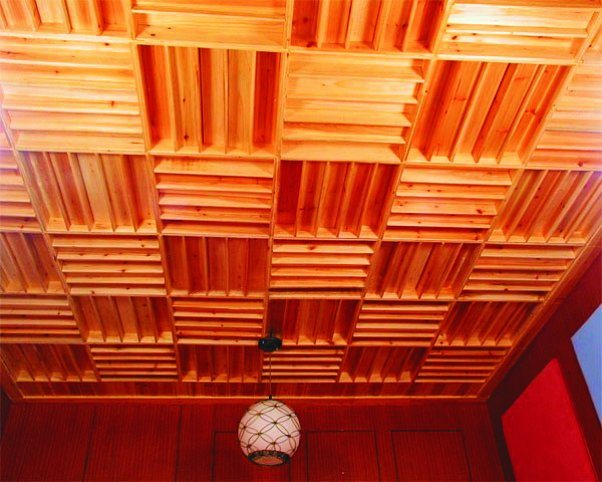 Wooden Acoustic Diffuser for Ceiling
