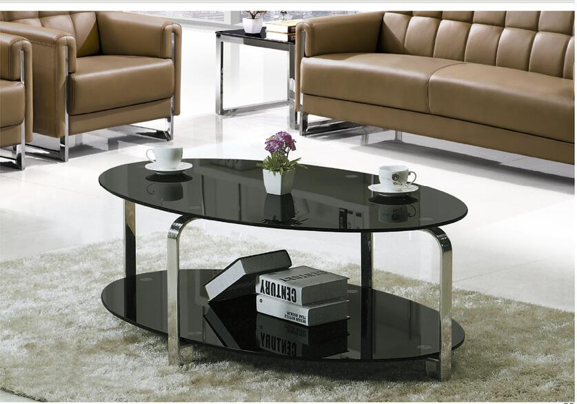 Terrific Hot Item Oval Glass And Glass Coffee Table Black Oval Coffee Table Glass Top Yf 170089T Squirreltailoven Fun Painted Chair Ideas Images Squirreltailovenorg
