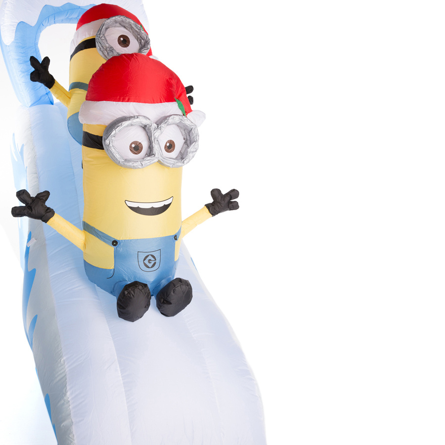 China Holiday Party Christmas Game Inflatable Minion Slide ...