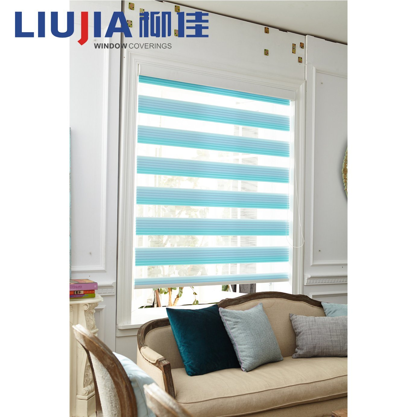 softshades and blinds products fabrics double roller banner luxaflex image