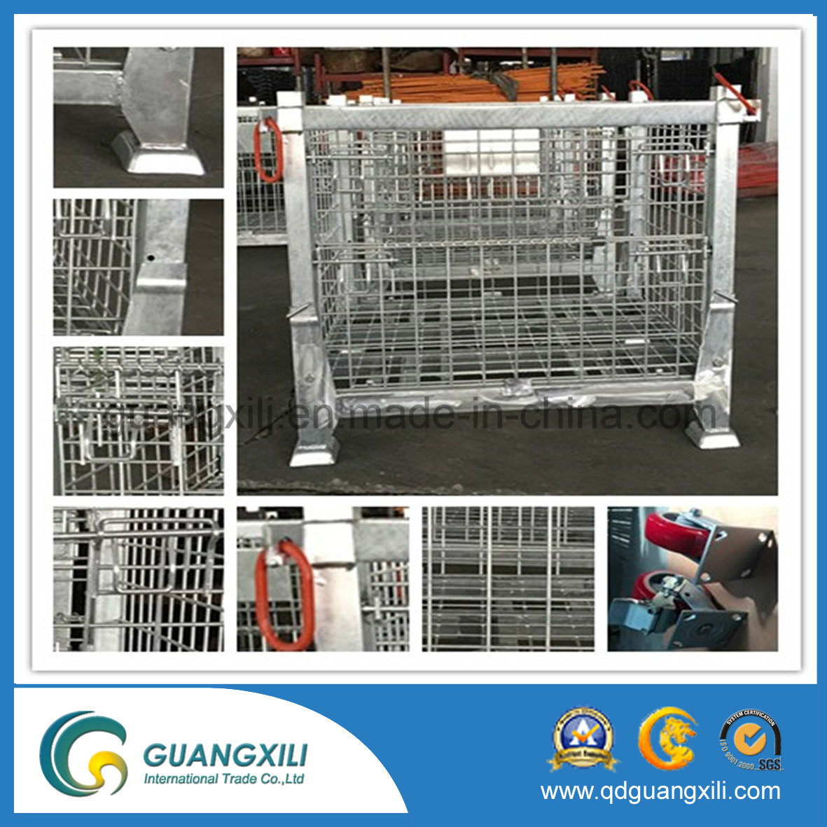 Lifting Type Foldable Wire Mesh Container pictures & photos