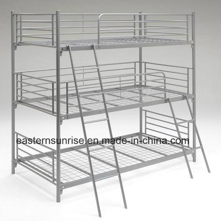 China Steel 3 Sleeper 3 Tier Triple Cheap Metal Bunk Beds