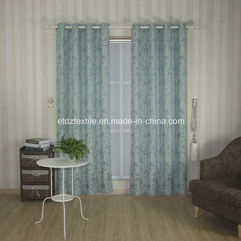 2018 Morden Polyester Piece Dyed Linen Like Curtain Fabric pictures & photos