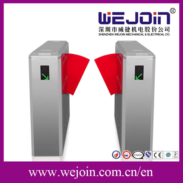 CE Approved Swing Gate Turnstile, Pedestrian Retractable Optical Flap Barrier Wing Barrier Turnstile