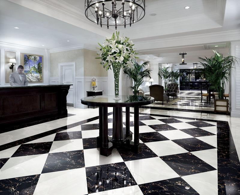 China Black Copy Marble Polished Porcelain Floor Tiles 800x800