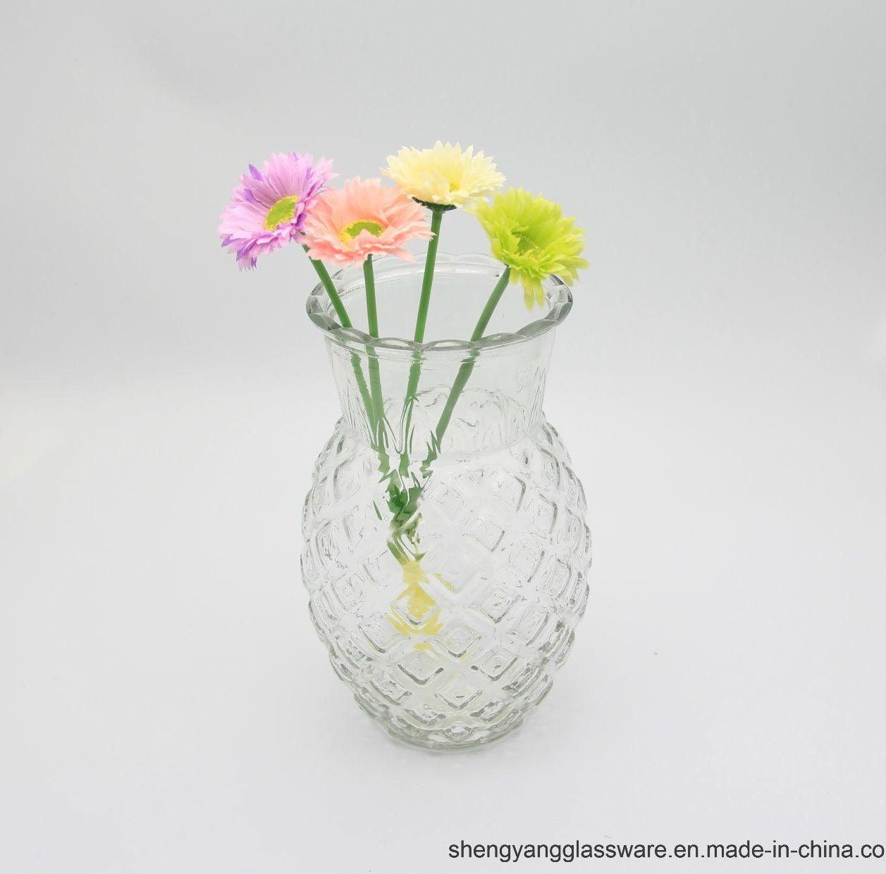 223 & [Hot Item] Hot Sell Pineapple Shape Glass Flower Vase/ Glass Vase for Home Decoration