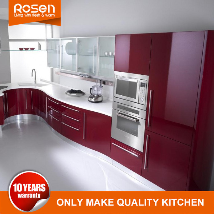 Hot Item Durable Used Stainless Steel Handles White Wood Kitchen Cabinets Furniture