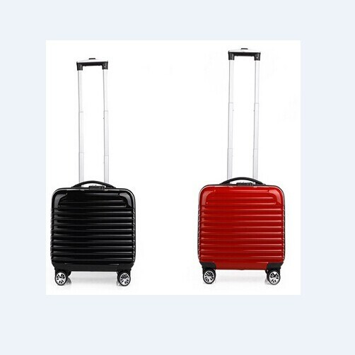 17 Inch Trolley Luggage with Wheels Taken in Airplane