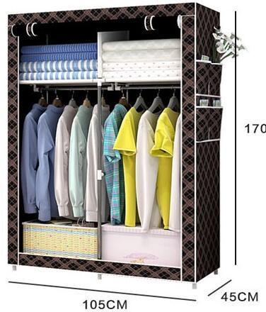 Single Fabric Canvas Clothes Storage Organiser Home Wardrobe Cupboard  Shelves (FW 05)