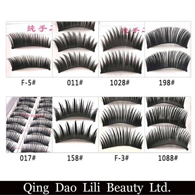 China Wholesale 10 Pair Fake Eyelashes Natural Long False Lashes 12