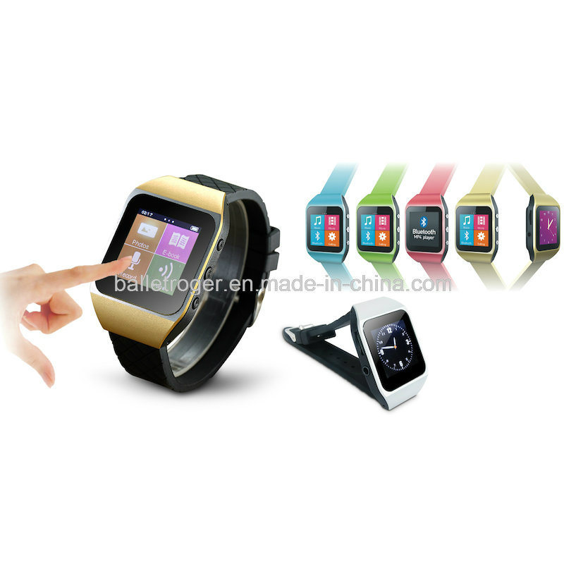 Touch Screen Watch MP4 Player with Bt/Pedometer