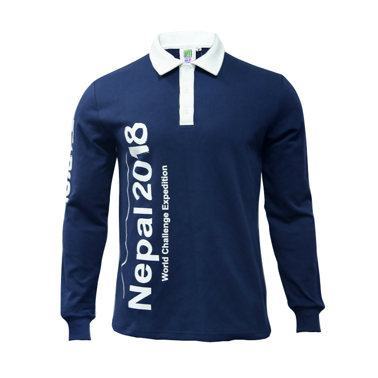 e77d4443551 Healong 100%Cotton Long Sleeve Polo Shirt Wholesale Custom Polo T Shirt