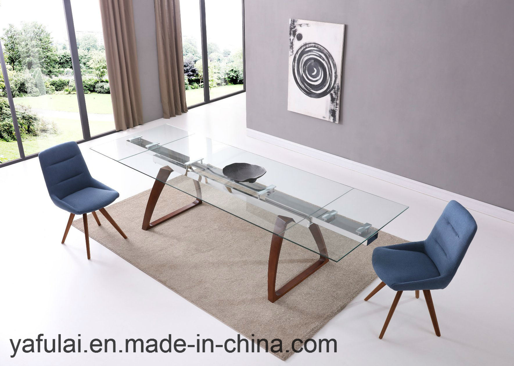 [Hot Item] Home Furnitue Dining Room Set Clear Glass Dining Table