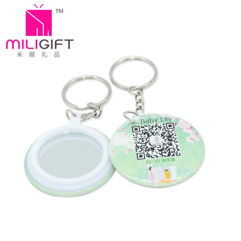 China Business Card Promotion Gifts Keychain Mirror Makeup Pocket ...