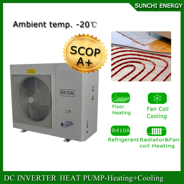 China France -25c Winter Floor Houe Heating 100~350sq 12kw/19kw/35kw