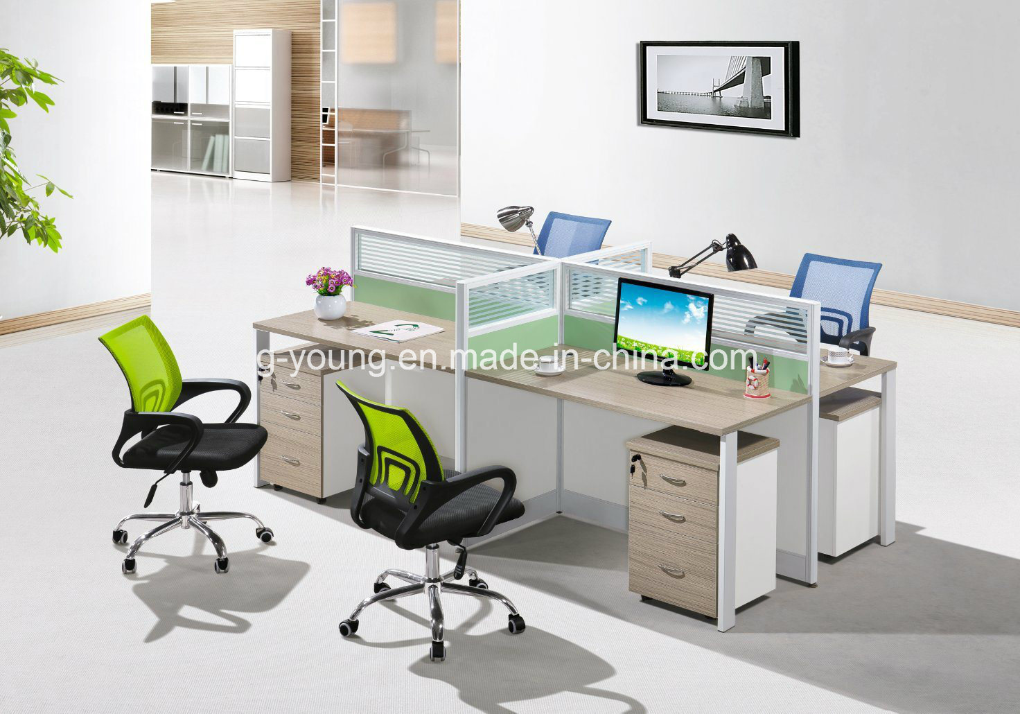 Hot Item Modern Design Office Furniture Computer Desk Table Workstation