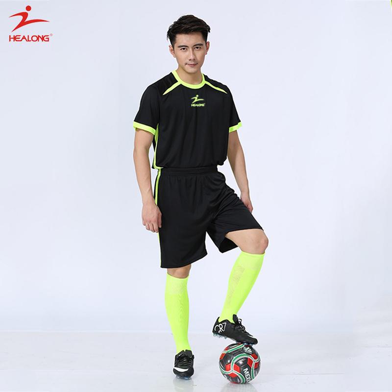 [Hot Item] Healong Customized Sportswear Plain Quick Dry Football Jersey in  Stock