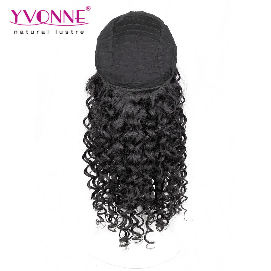 Fashion Natural Black Peruvian Human Hair Lace Wig pictures & photos