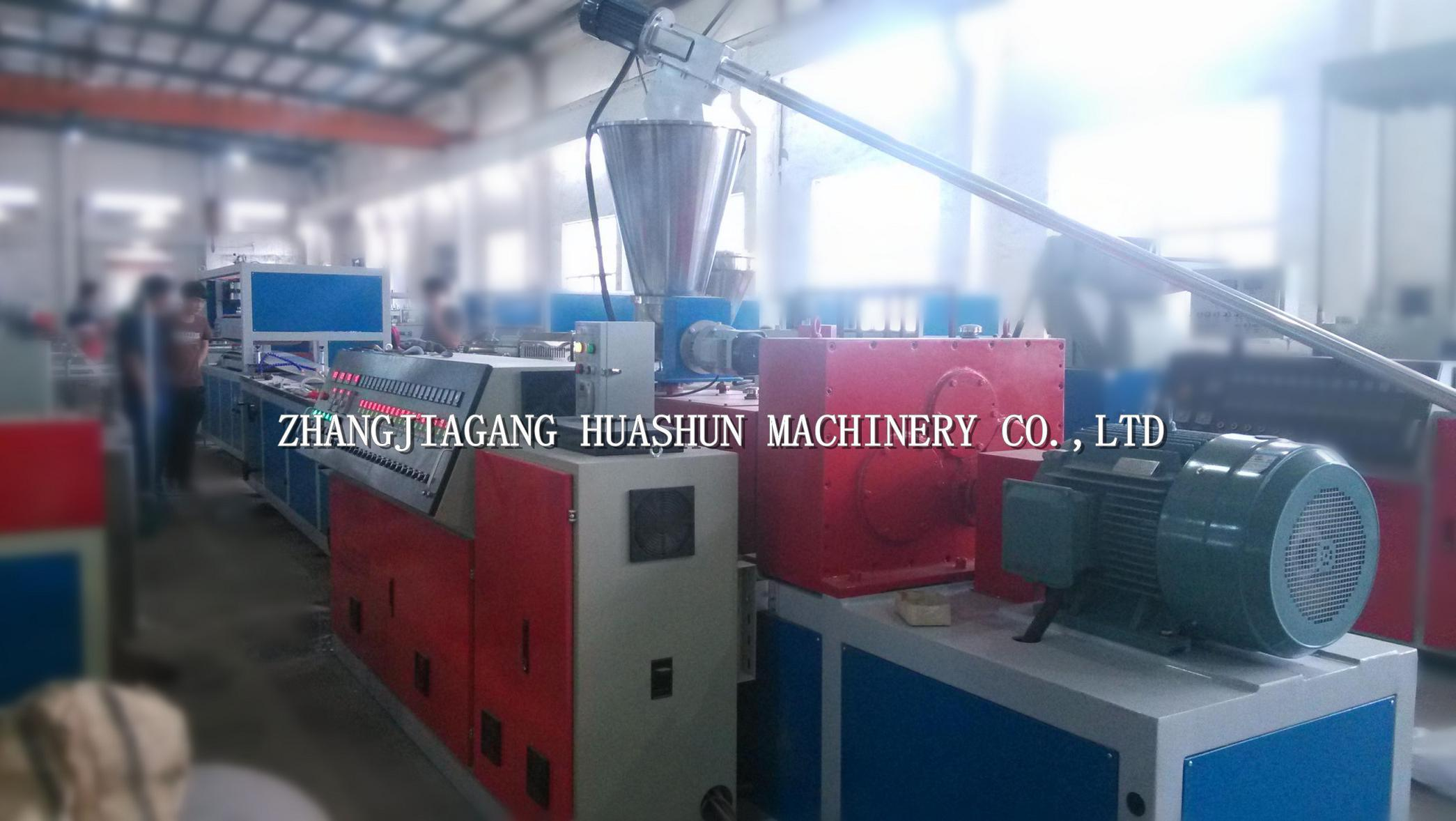 China Plastic PVC Building Profile Extruder Machinery for Wall Panel ...