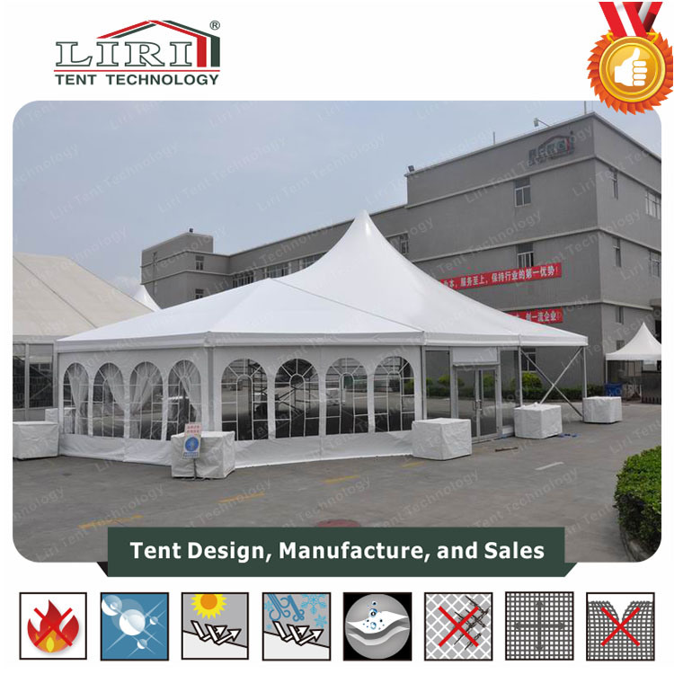 [Hot Item] 20X30 Aluminum High Peak Tent with Clear PVC Window Sidewalls  for Sale