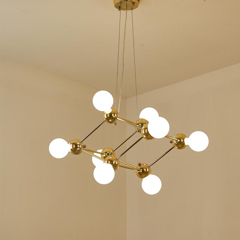 [Hot Item] 8 Lights Modern Kitchen Chandelier Pendant Lamp in Gold Fit for  Study Room, Bedroom or Hotel Bar