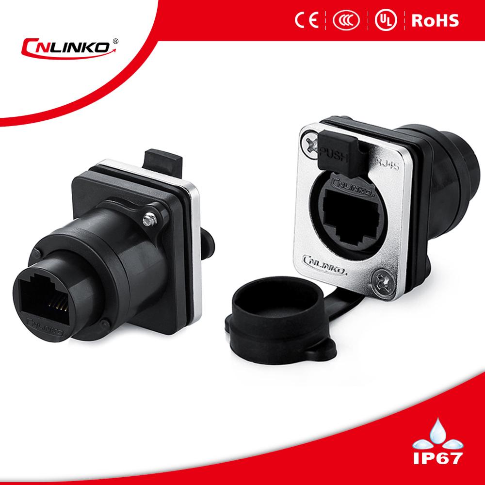 China Plastic Rj45 Connector 8p8c Panel Mount Waterproof Cat6 Wiring Plug Plugs