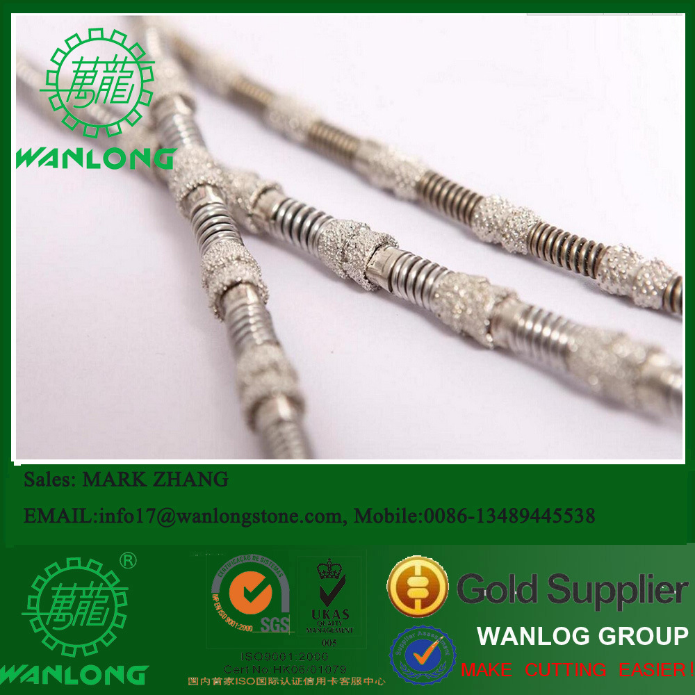 China Diamond Vacuum Brazed Wire Saw for Marble, Sandstone ...