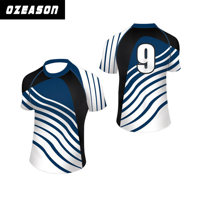 77c1eec22b China Custom Make Sublimation Stripe Rugby Jersey - China Rugby ...