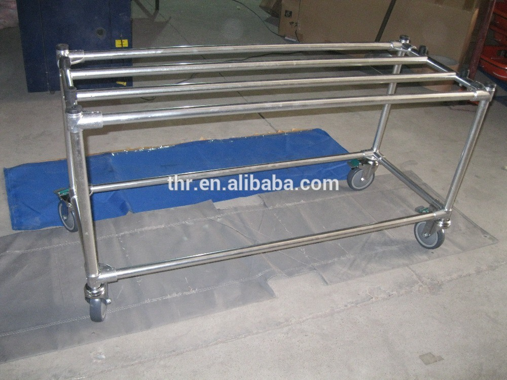 Aluminum Casket Trolley with Six Wheels pictures & photos