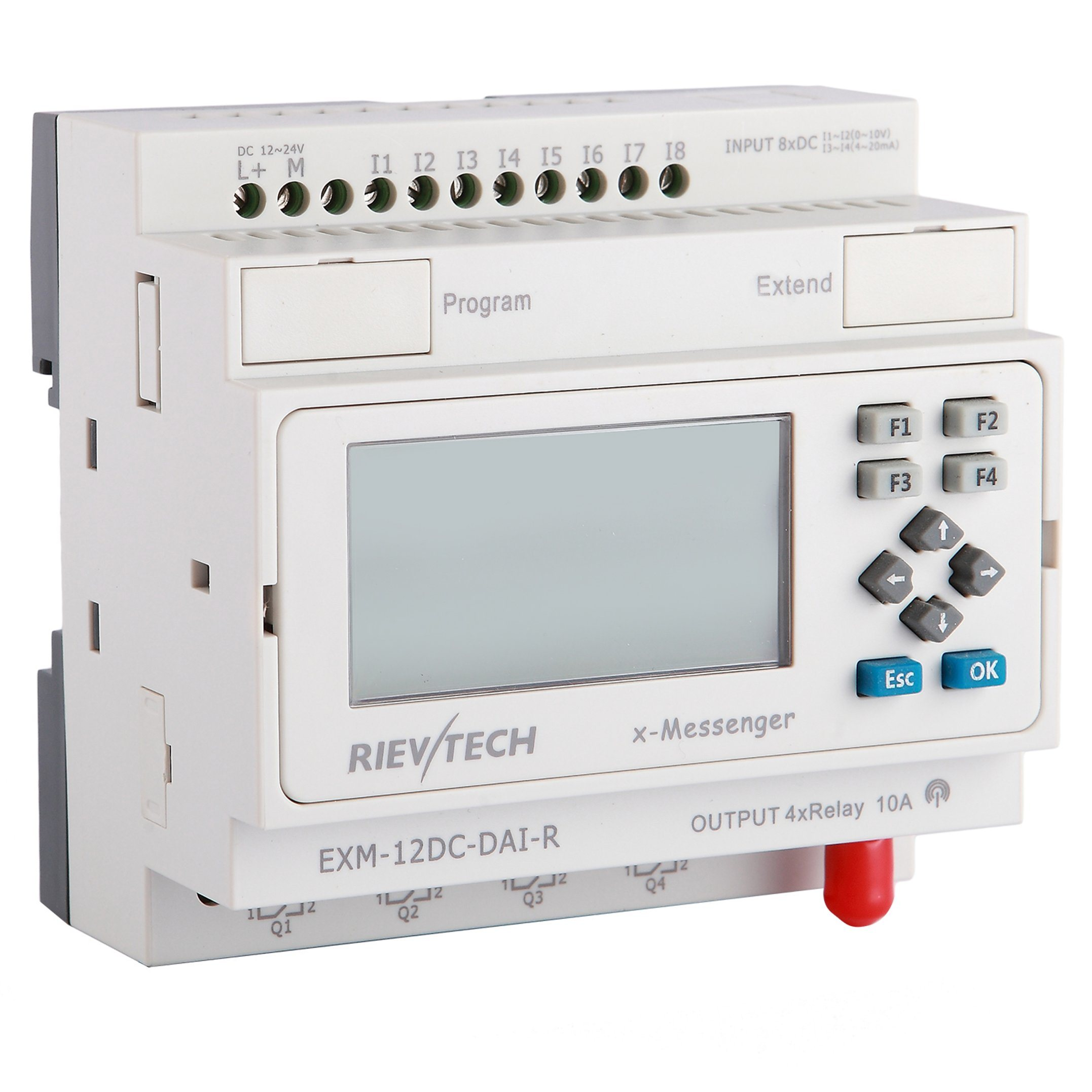 China Factory Price Programmable Logic Controller Gsm Plc Hmi Wiring Diagram Relay Exm 12dc Dai R