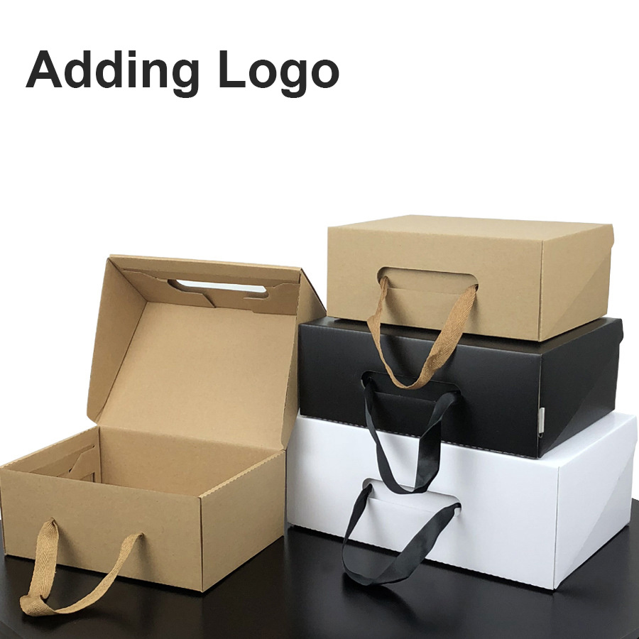 [Hot Item] 100PCS Custom Gift Packaging Shipping Corrugated Carton Mailer  Mailing Packaging Cardboard Box for Jewelry / Clothes / Apparel / Shoes /