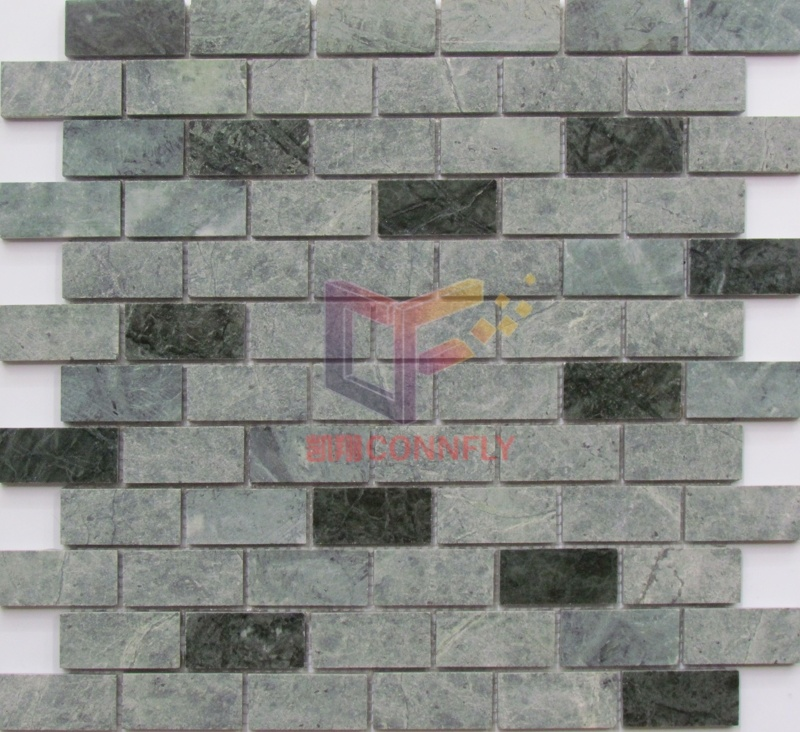 Green Strip Wall Used Stone Tile Mosaic