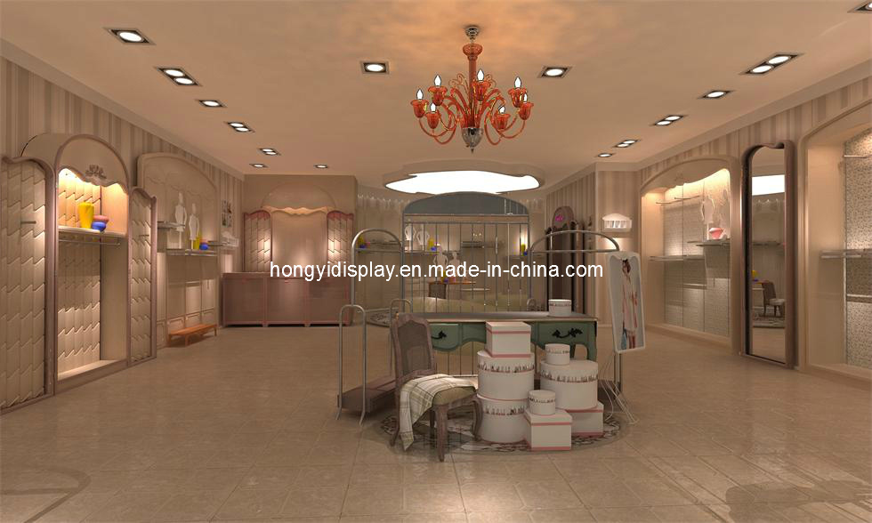 Ladies Shop Decoration, Shop Kiosk Design, Garments Shop pictures & photos