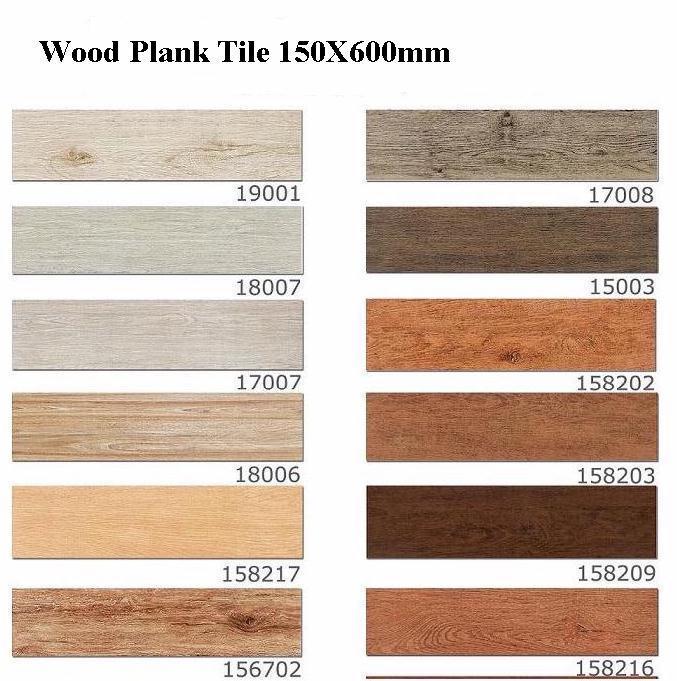 China 150x600mm Porcelain Wood Plank Floor Tile Ceramic