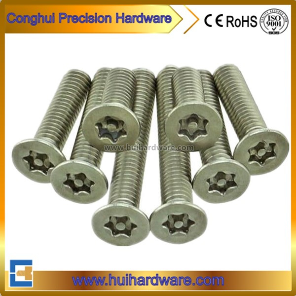 Torx Csk Head Security Machine Screw with Pin