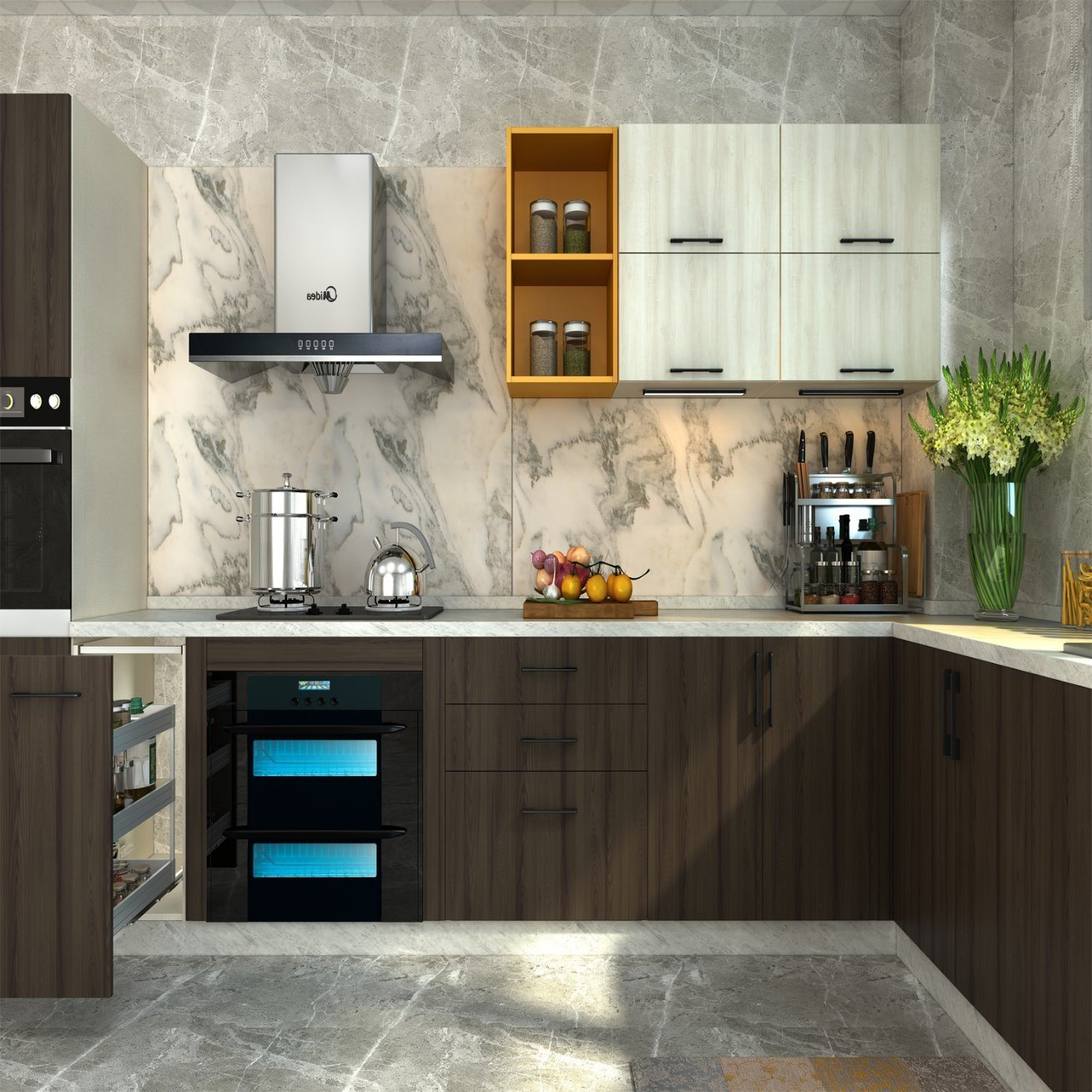 Hot Selling Modern Melamine Kitchen Cabinets Made in China   China ...