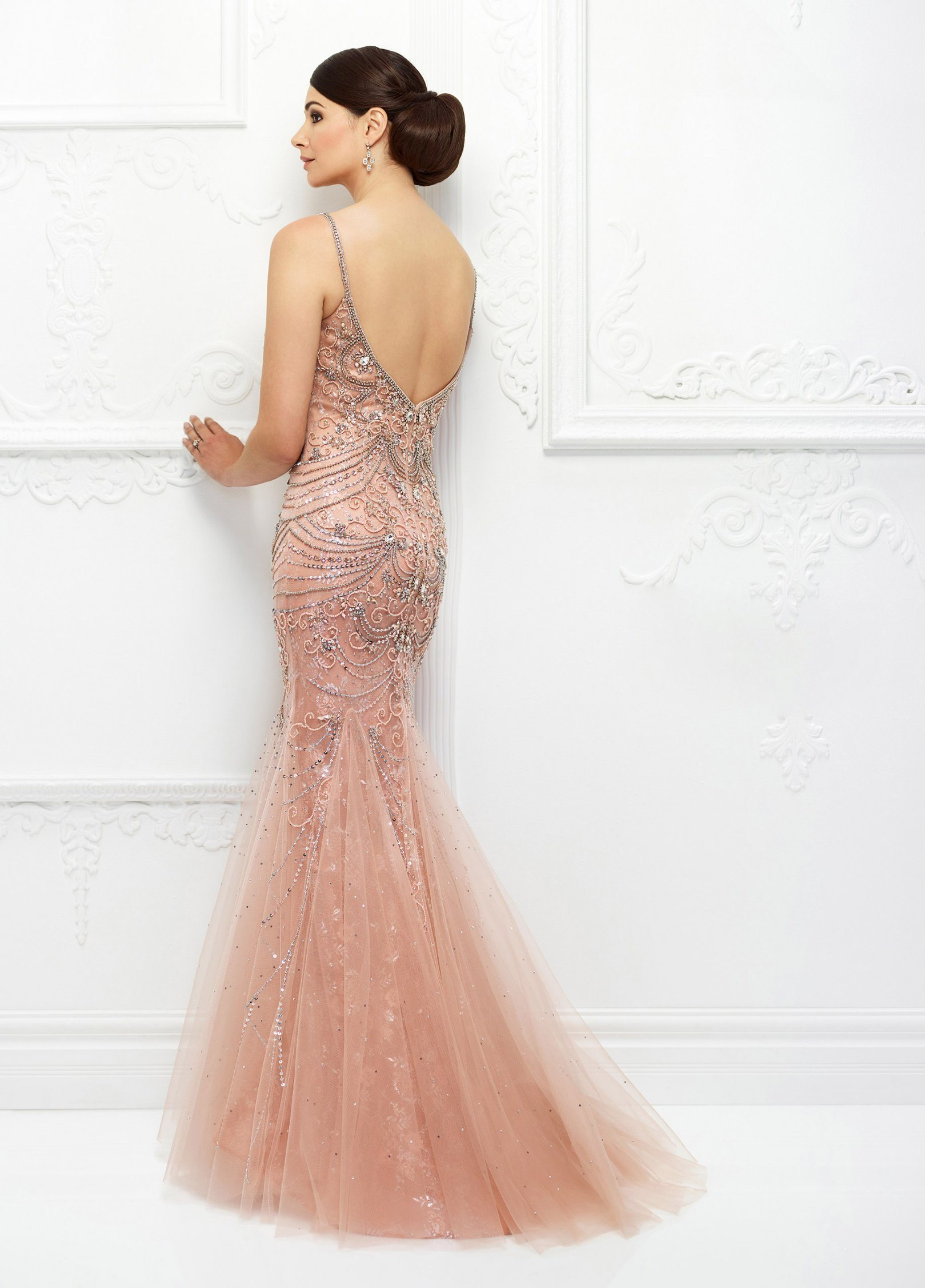 China Amelie Rocky Peach Luxury Beading Evening Gown Formal Party ...