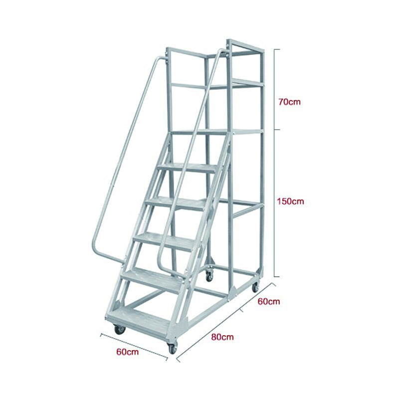 China Durable 1500mm Height Movable Steel Folding Platform Step Ladder Trolley With Wheels China Ladder And Platform Ladder Price