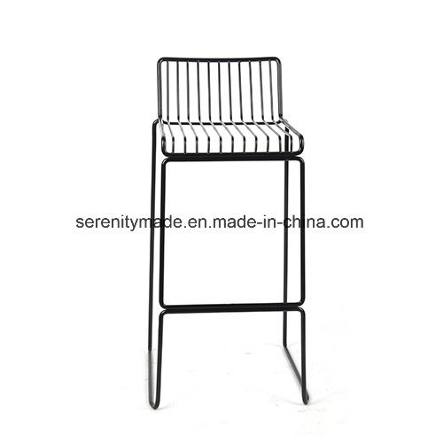 Outstanding Hot Item Industrial Style Restaurant Use Stackable Black Steel Wire High Bar Stools Uwap Interior Chair Design Uwaporg