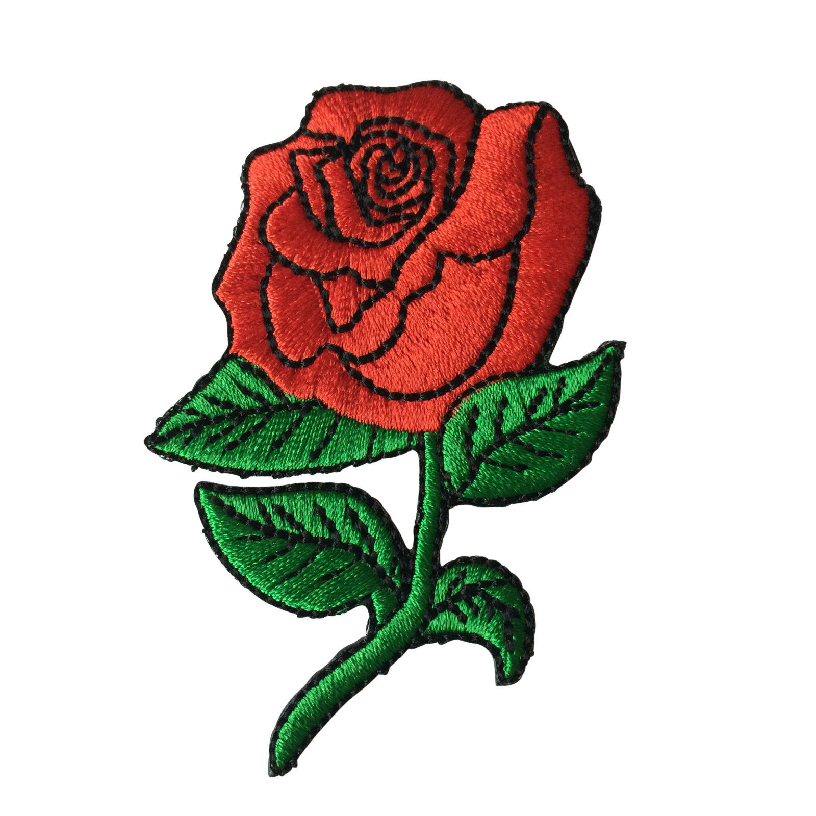 eeae314302b China Manufacturer Custom Design Red Rose Embroidered Patches ...
