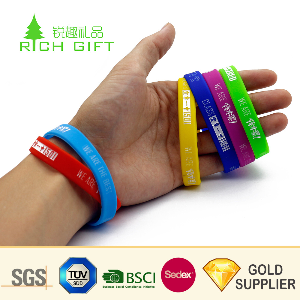 China Factory Direct Custom Eco Friendly Logo Printing Rubber Usb Flash Drive Wristband For Bracelets
