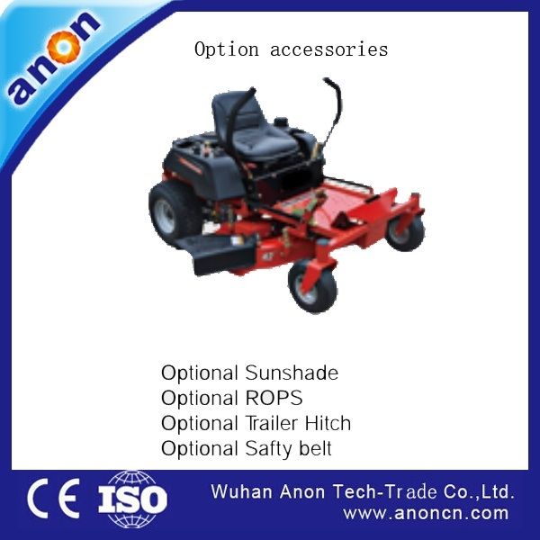 China Anon 30inch Riding Zero Turn Lawn Mower with Belt