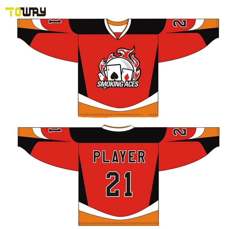 China Sports Wear Custom Sublimation Team Oem Cheap Hockey Jerseys
