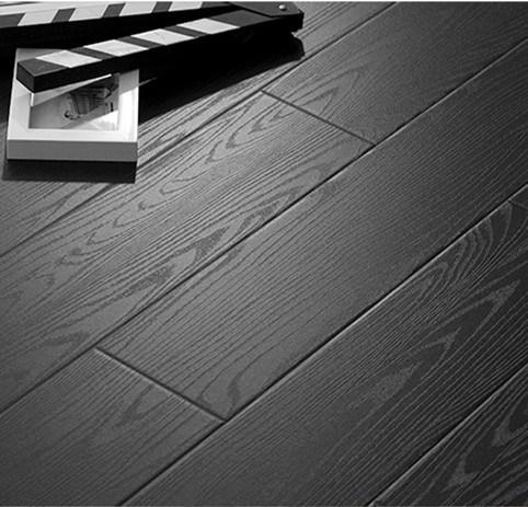 China 12mm Black Laminated Floor Hdf, Black Wood Laminate Flooring