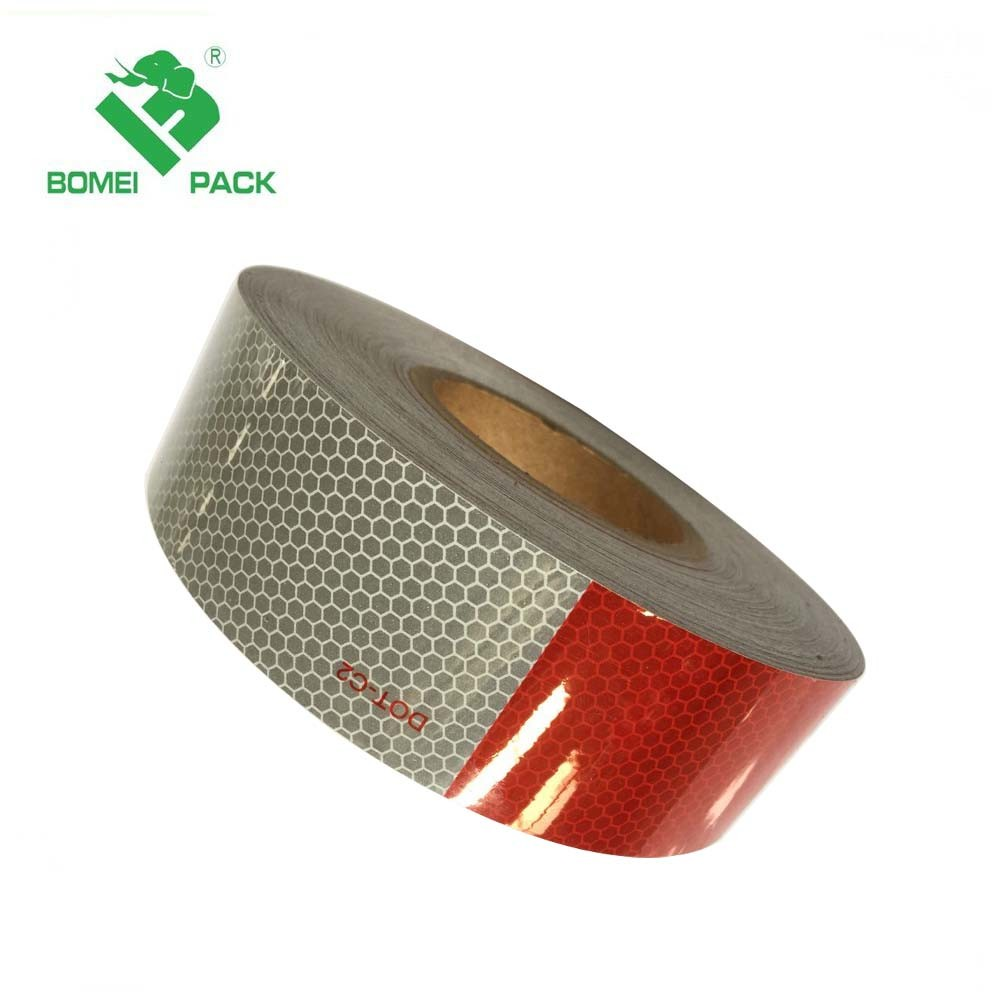 """1 Roll US Conspicuity Tape DOT-C2 Approved Reflective Trailer Red White 2""""x150'"""